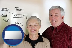 ks a retired couple reviewing their investments