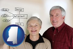 ms a retired couple reviewing their investments