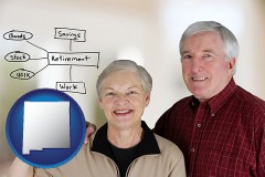 new-mexico a retired couple reviewing their investments