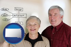 south-dakota a retired couple reviewing their investments