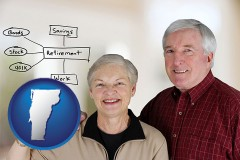 vermont a retired couple reviewing their investments