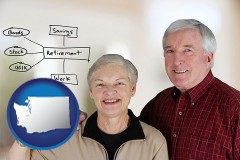 wa a retired couple reviewing their investments