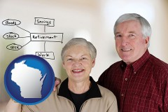 wi a retired couple reviewing their investments