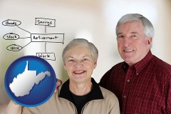 west-virginia a retired couple reviewing their investments